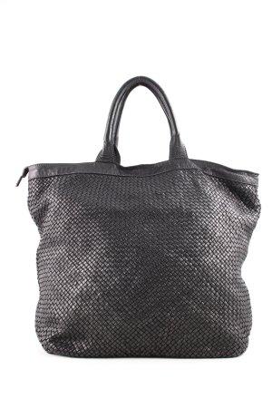 Genuine Leather Schultertasche schwarz Business-Look