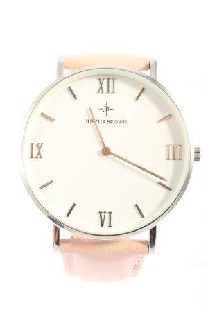 Justus Brown Horloge met lederen riempje veelkleurig zakelijke stijl