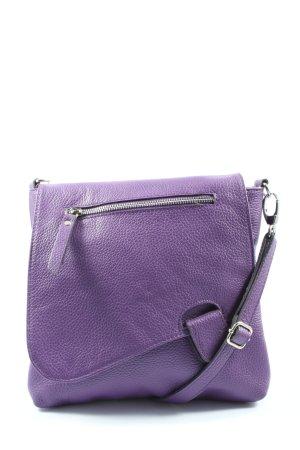 Genuine Leather Umhängetasche lila Casual-Look