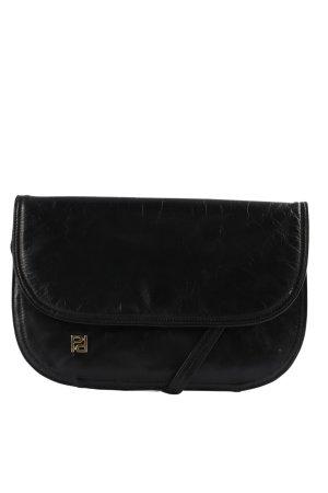 Genuine Leather Umhängetasche schwarz Casual-Look