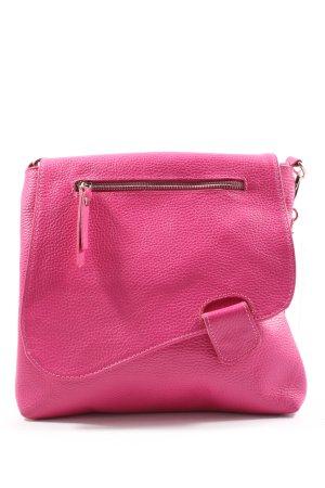 Genuine Leather Umhängetasche pink Casual-Look