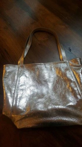 Genuine Leder Tasche neuwertig silber