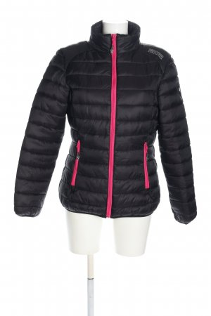 Geographical Norway Steppjacke schwarz-pink Steppmuster Casual-Look