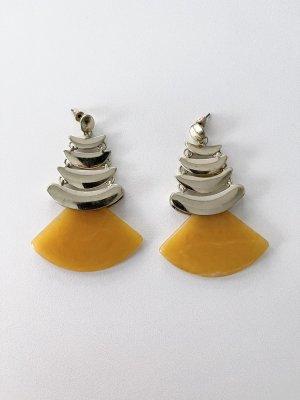 Anthropologie Statement oorbellen goud-zandig bruin
