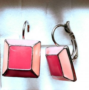 Geometrische Ohrringe Rosa