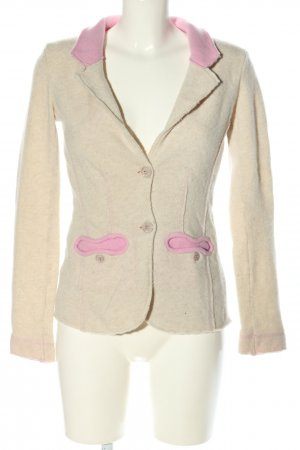 Georg Maier Strickblazer creme-pink Casual-Look