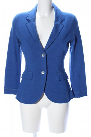 Georg Maier Strickjacke blau Business-Look