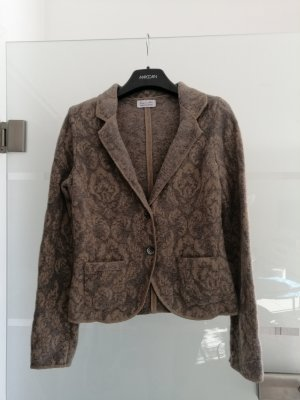Georg Maier Knitted Blazer light grey-beige