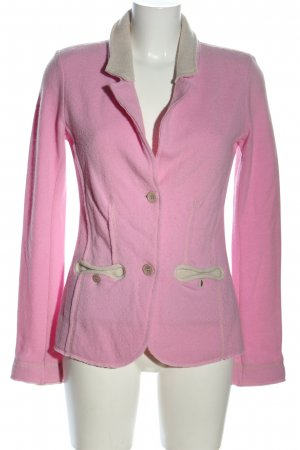 Georg Maier Woll-Blazer pink-creme Casual-Look