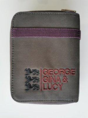 George Gina & Lucy Portefeuille gris foncé-violet foncé