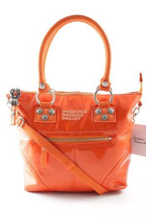 George Gina & Lucy Borsetta arancio neon-argento stile casual