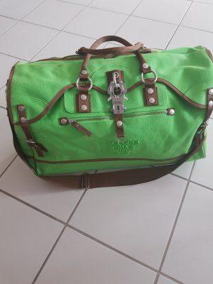 George Gina & Lucy Sac weekender vert fluo coton