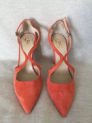 GEORGE J. LOVE Damen Pumps Schuhe in orange korall, Gr. 41