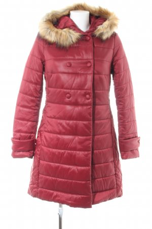George J. Love Winterjacke rot Steppmuster Business-Look