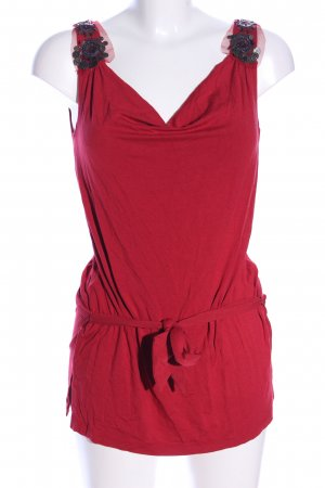 George. Top lungo rosso stile casual