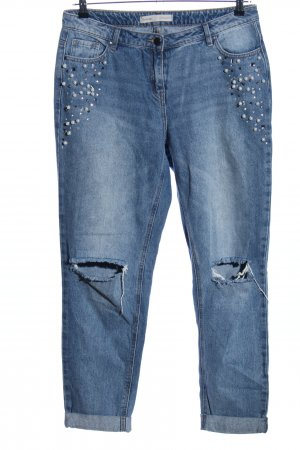George. Straight-Leg Jeans blau Casual-Look