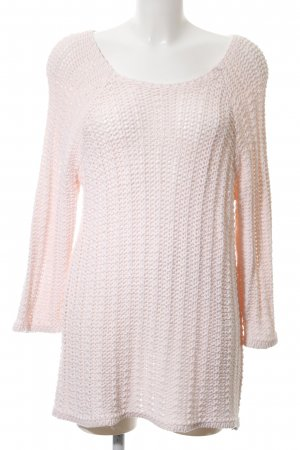 George. Strickpullover pink Zopfmuster Casual-Look