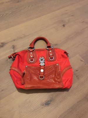 GeorgeGina&Lucy Leather Nylon Ranchella Coral