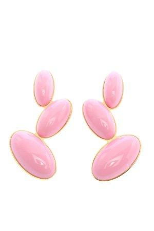 Georges Hobeika Statementohrringe pink-goldfarben Elegant