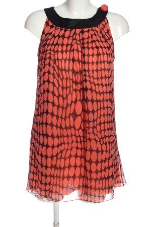 Georges Rech Mini Abito rosso-nero stampa integrale stile casual
