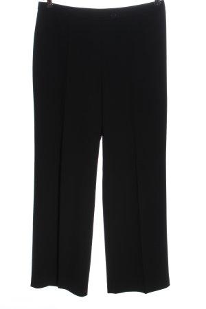 Georges Rech Pantalone jersey nero motivo a righe stile casual