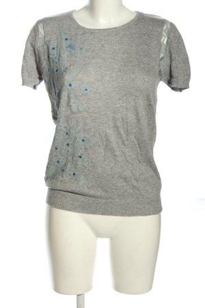 Georges Rech Camicia maglia grigio chiaro-blu motivo astratto stile casual