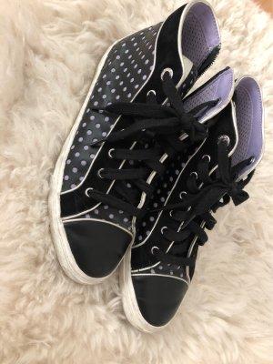 Geox Respira Zapatillas con velcro negro-púrpura