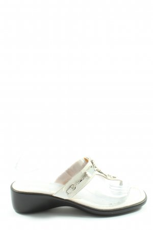 Geox Heel Pantolettes white-black casual look