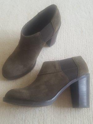 Geox Ankle Boots khaki-braun Rauleder, Trachtenschuh, Gr. 38,5
