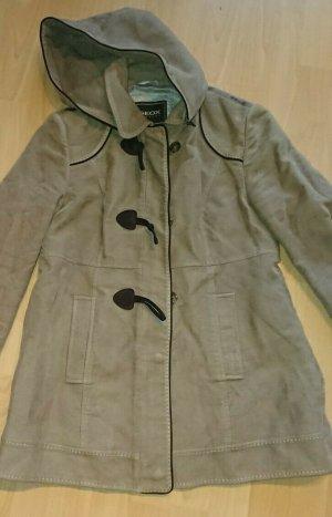 Geox Duffle Coat, Mantel, Beige, Gr. 38, Abnehmbare Kapuze