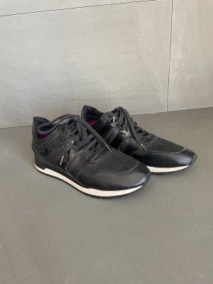Geox edle Damen Sneaker-Schuhe-Gr. 38-schwarz-Leder-neu