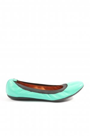 Geox Foldable Ballet Flats turquoise-black casual look