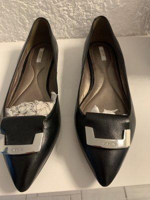 Geox Ballerina's met kant zwart