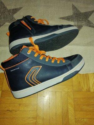 Geox Basket montante orange-bleu foncé