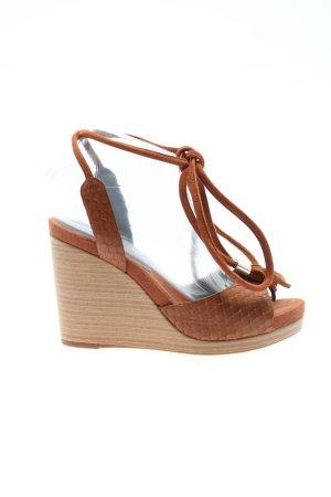 Geox High Heel Sandaletten braun-wollweiß Elegant