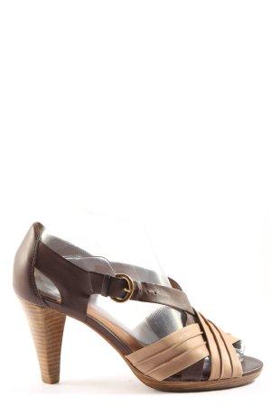 Geox High Heel Sandaletten schwarz-braun Casual-Look