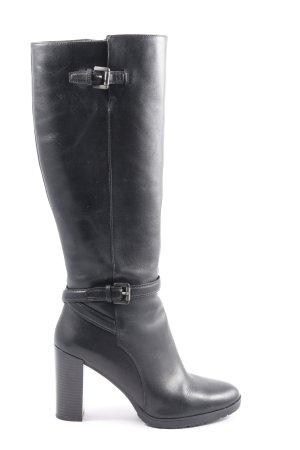 Geox High Heel Stiefel schwarz Casual-Look