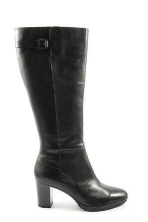 Geox Wysokie buty na obcasie czarny W stylu biznesowym