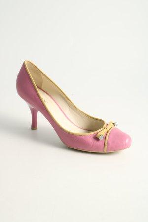 Geox High Heels pink-blassgelb Casual-Look