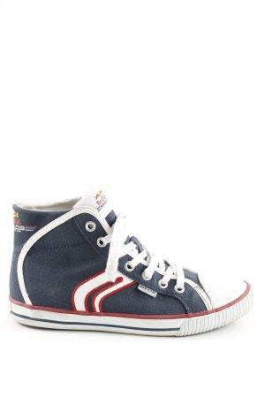 Geox High Top Sneaker Motivdruck Casual-Look