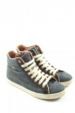 Geox High Top Sneaker blau Casual-Look