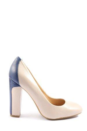 Geox Pumps met hoge zool wolwit-blauw elegant