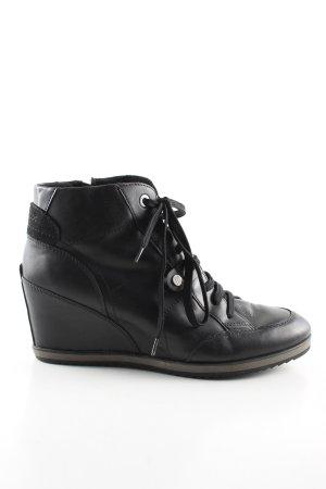 Geox Wedge Booties black casual look