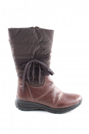 Geox Short Boots brown quilting pattern casual look