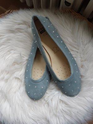 Geox Bailarinas con tacón Mary Jane azul celeste