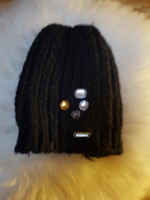 Geox Chapeau en tricot noir