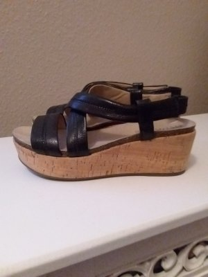 Geox Respira Platform Sandals black leather