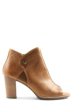 Geox Peep Toe Booties brown casual look
