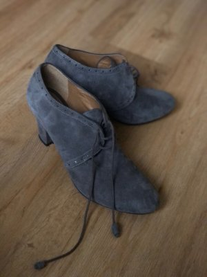 Geox High-Front Pumps grey leather