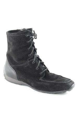 Geox Reißverschluss-Stiefeletten schwarz schlichter Stil
